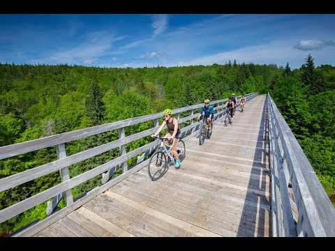 Cycling In Nova Scotia - Celtic Shores Coastal Trail In Cape Breton