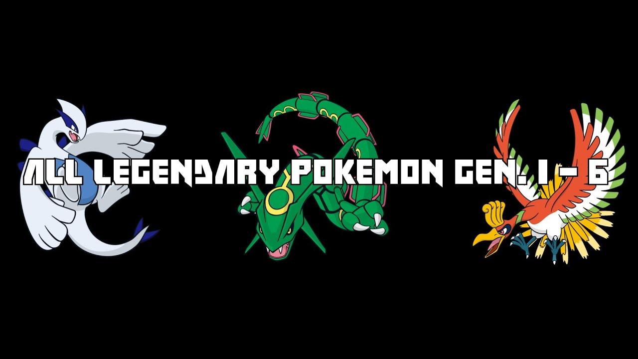 All Legendary Pokemon Gen. 1 - 6 - YouTube