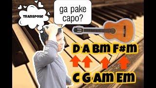 cara mudah merubah naik turun sebuah chord/nada/oktav dalam bermusik