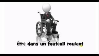 French pronunciation = être dans un fauteuil roulant