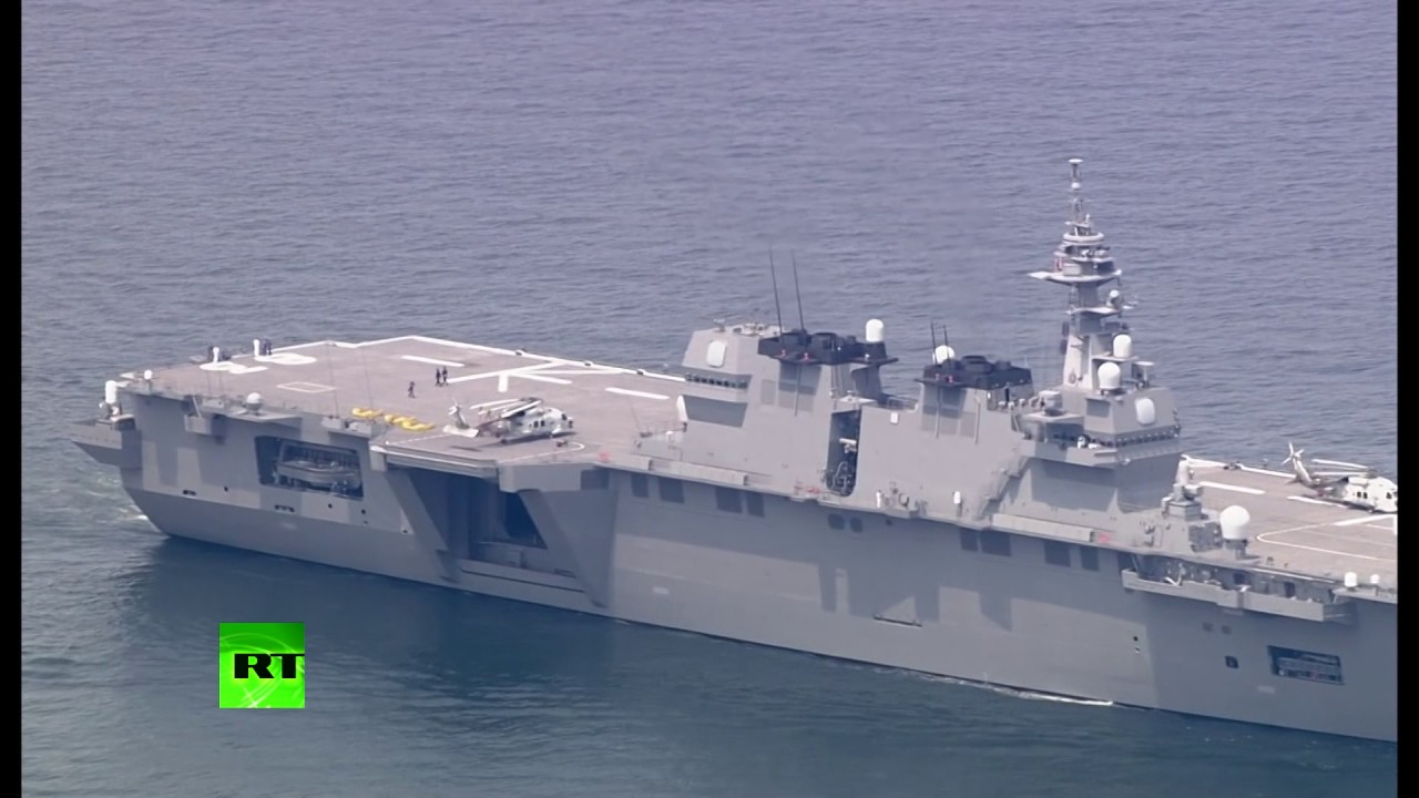 Japan deploys Izumo warship to protect US vessel after N. Korea threats to turn it into 'ghost'