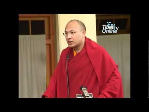 HH The Gyalwang Karmapa Ogyen Thrinley Dorje Gives Speech On Tribute To Katri Prof. Samdong Rinpoche