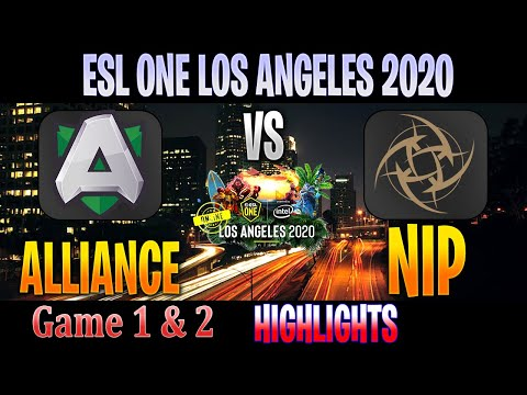 Alliance Vs NiP HYPE ! Game 1 & 2 HIGHLIGHTS | Group Stage EU + CIS ESL ONE LOS ANGELES ONLINE
