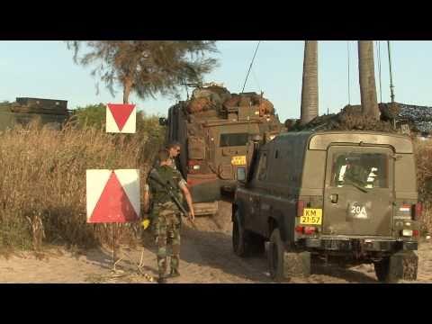 Landing mariniers op de kust van Senegal tijdens Emerald Move