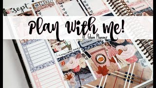 "Plan With Me! ft  Glam Planner ""Blushing Fall"""