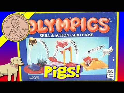 Olympigs Skill & Action Family Card Game, When Pigs Fly!