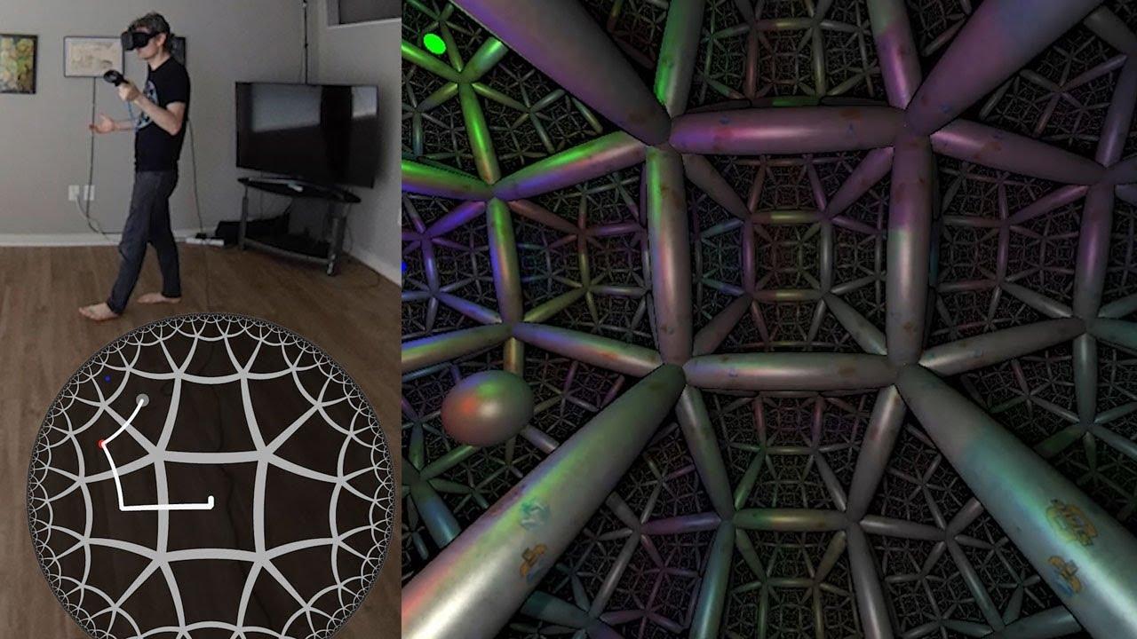 Non-euclidean virtual reality using ray marching