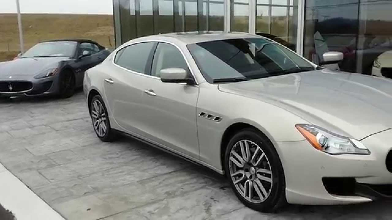 2015 maserati quattroporte sq4 quick walk around champagne