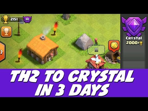 Clash of Clans - TH2 to Crystal in 3 Days! Speed Raiding Trick!
