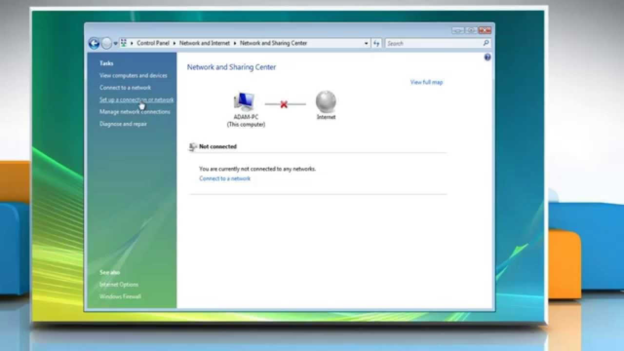 Windows Vista How To Connect To The Internet Youtube