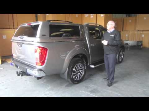 nissan navara np300 hardtop canopy youtube. Black Bedroom Furniture Sets. Home Design Ideas