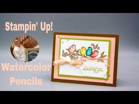 Stampin Up Watercolor Pencils Tips Tricks & A Fun Card Using Watercolor Pencils