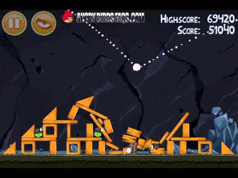 Angry Birds Level 16-8 Mine And Dine 3 Star Walkthrough