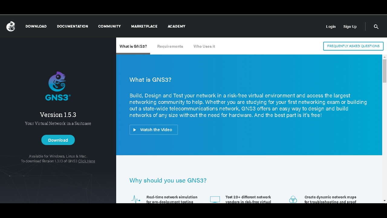 Download any GNS3 & GNS3VM version without any login