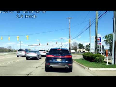 Driving from Southfield, Michigan to Madison Heights, Michigan