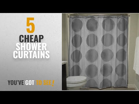 Top 10 Cheap Shower Curtains [2018]: DII Oceanique Elegant, Modern Circle Lace Design, Water &