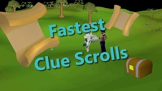 FASTEST/EFFICIENT ways to get CLUE SCROLLS OSRS