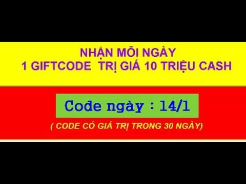 Phát 1000 Gift Ccode gunny ngày 14 .1 . 2018 code tồn tại trong 30 ngày mỗi  ngày nhận 1 code