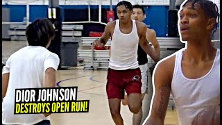 Dior Johnson COOKS EVERYONE at Open Run!! What A Top Ranked PG Looks Like at an Open Gym!