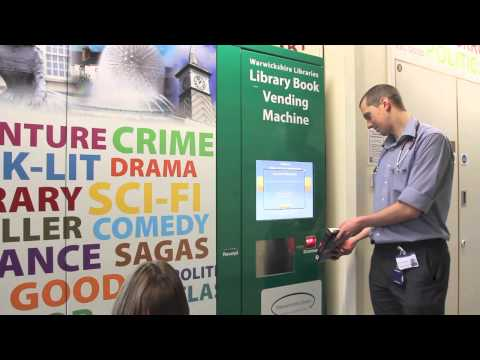D-Tech Library book vending machine - How does it work?