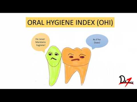 Oral hygiene index (OHI)