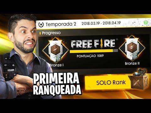 FREE FIRE! MINHA PRIMEIRA PARTIDA RANQUEADA COM RECORDE DE ABATES!