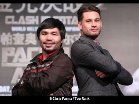 Manny Pacquiao vs Chris Algieri: Macau China  Full Press Conference and Face Off