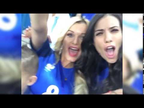 Ludivine Payet and Ludivine Sagna celebrating together and having fun