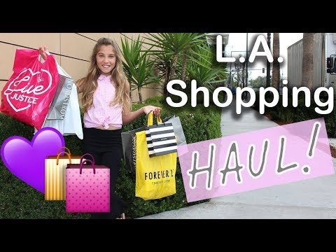 SPRING FASHION HAUL (come shopping with me in LA!)