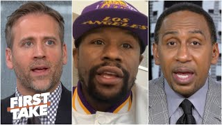 Floyd Mayweather talks about the business of boxing with Stephen A. & Max | First Take