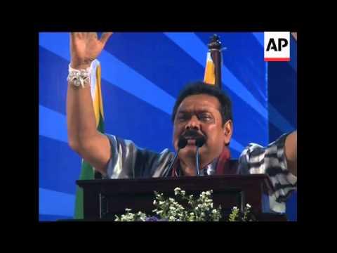 Sri Lankan President Rajapaksa holds final campaign rally