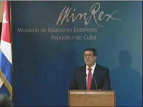 Conferencia de prensa del Canciller Bruno Rodríguez Parrilla sobre retirada de diplomáticos cubanos