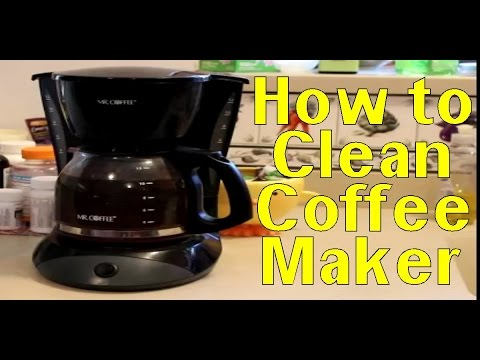 Kitchen Cleaning How To Use Vinegar To Clean Coffee Pots Youtube