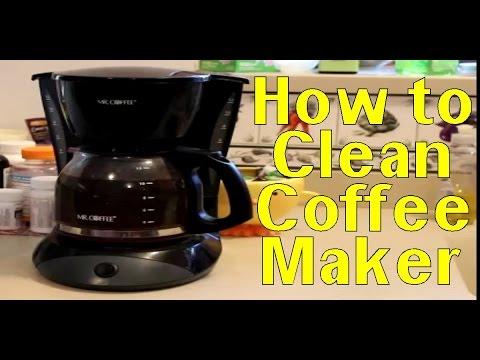 Clean Coffee Maker Vinegar - How to Clean Coffee Maker