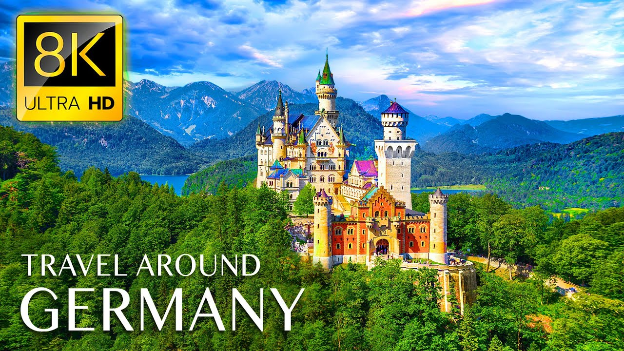 GERMANY 8K • Beautiful Scenery, Relaxing Music & Nature Soundscape in 8K ULTRA HD