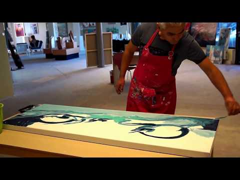 Abstract Painting / How to paint large abstract #painting