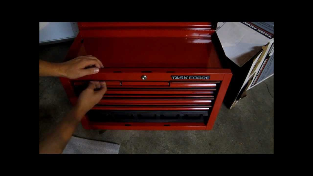 Quick look at Task Force 26-in Steel Tool Chest from Lowes - YouTube