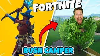 HOW TO WIN AS a BUSH in FORTNITE * BUYS WIZARD SKINS * Random Squad