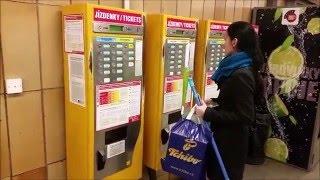 Livingprague.com presents - How to use a prague public transport ticket machine