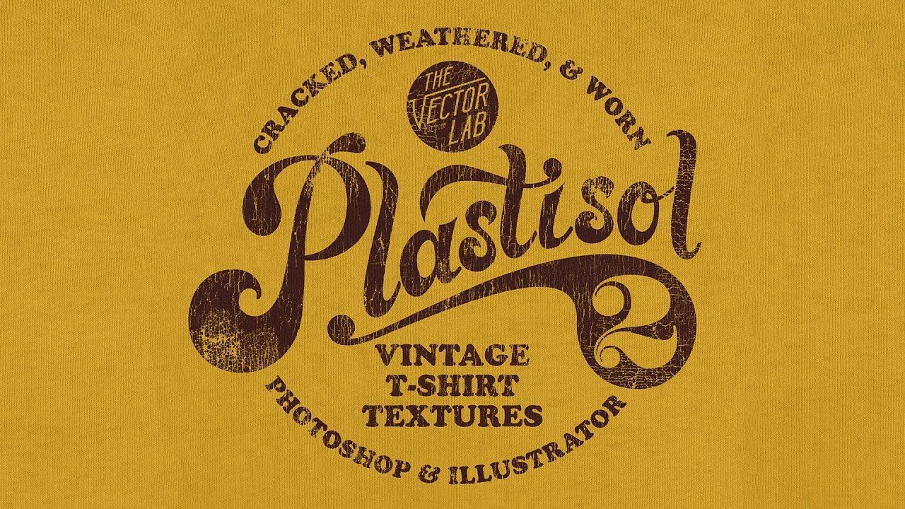 Plastisol 2 Apply Vintage Cracked Ink Textures To Your T Shirt Designs