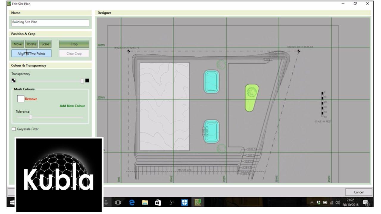 kubla cubed 2016 tutorial defining site plans kubla software