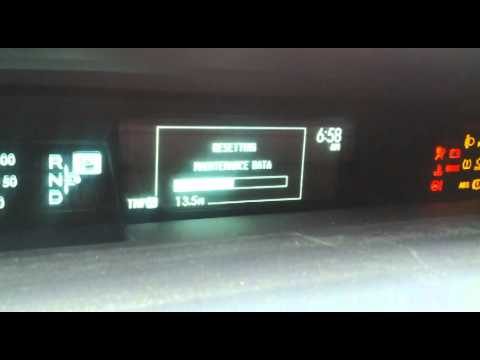 Prius Maintenance Required >> 20120502 Prius Plugin Clear Maintenance Required Soon Warning Youtube