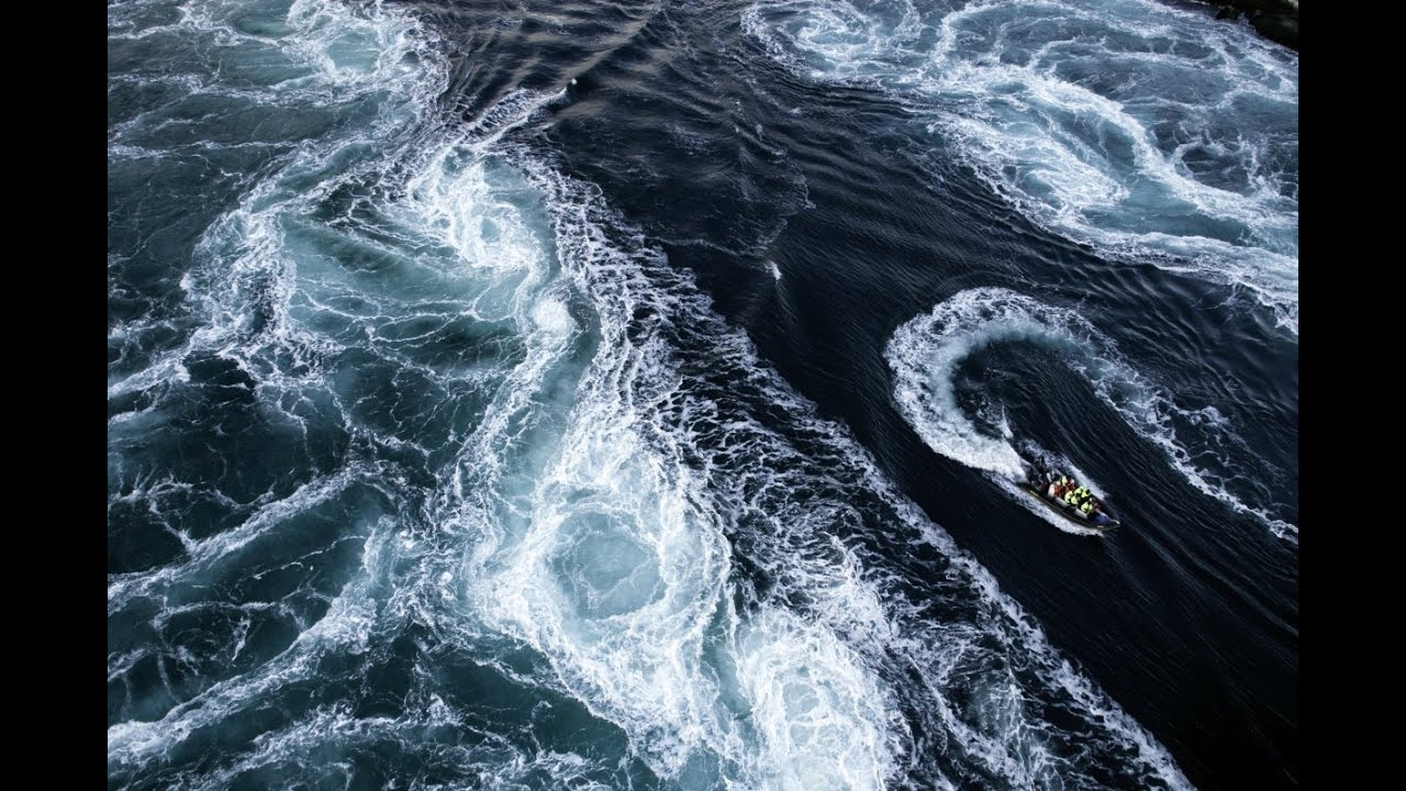 World strongest ocean current in action, Maelstrom