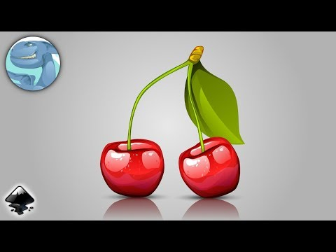 Ripe cherries. Time lapse of vector graphic with Inkscape. thumbnail