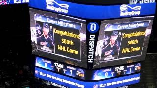 Jordan Leopold's First Goal for the Columbus Blue Jackets 11/25/2014