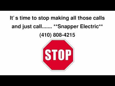 Electricians Bel Air Snapper Electric Electrician Specialists