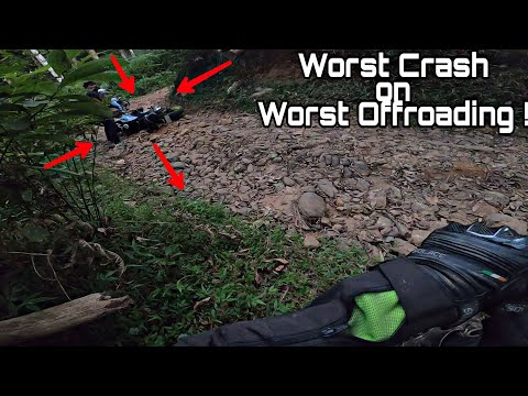 BMW GS310 CRASHED ON THE WORST OFFROADING