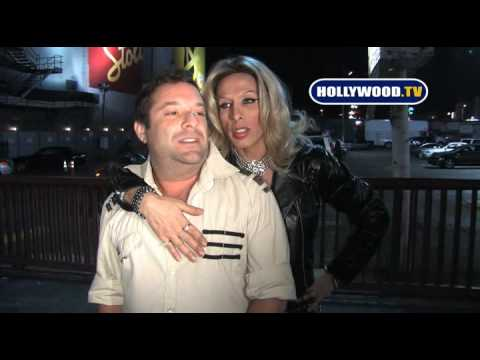 Alexis Arquette Slaps A Man At Avalon.