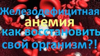 Анемия и железодефицитная анемия - причины, симптомы и лечение