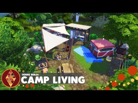 Camp Living - The Sims 4 - House Build | HD thumbnail